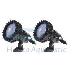 2 x LAMPA HALOGENOWA, OGRODOWA CQD-120B 2 X 20W