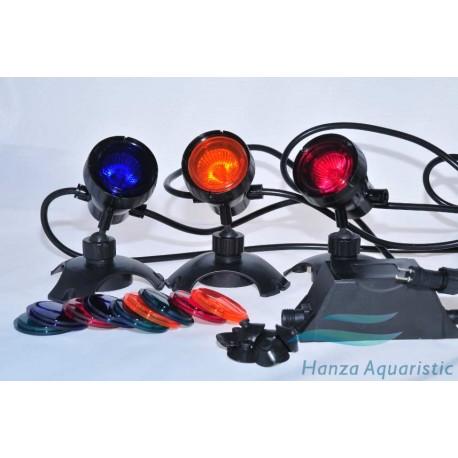3 X LAMPA HALOGENOWA, OGRODOWA CQD-220C 3 X 20W