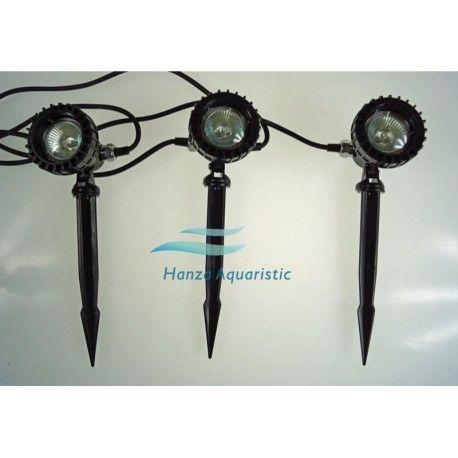 3 x LAMPA HALOGENOWA, OGRODOWA CQD-120C 3 X 20W