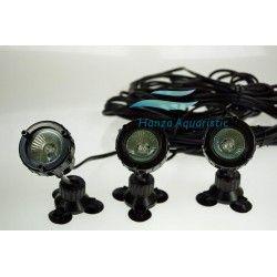 3 x LAMPA HALOGENOWA, OGRODOWA CQD-110C 3 X 10W